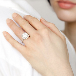 People are guided to selecting gold or diamond ring for men