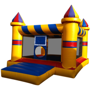 What are the restrictions made to play on the bouncy castles?